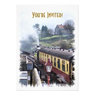 STEAM TRAINS UK PERSONALIZED INVITE