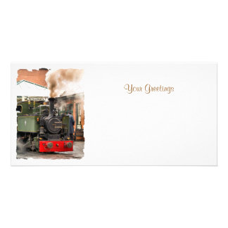 STEAM TRAINS UK PHOTO GREETING CARD
