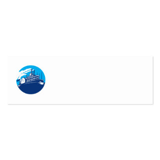 Steamboat Ferry Passenger Ship Retro Business Card Template