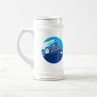 Steamboat Ferry Passenger Ship Retro Coffee Mug