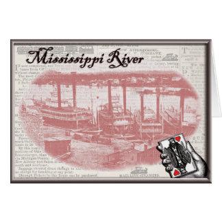 Steamboat Gambling Card