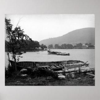 Steamboat graveyard Lake George New York Poster