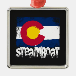 Steamboat Grunge Flag Christmas Ornament