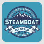 Steamboat Ice Square Stickers