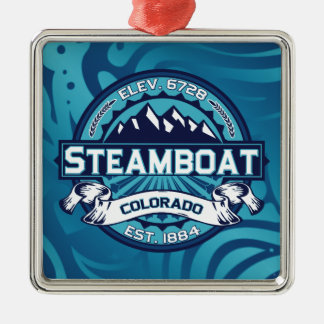 Steamboat Logo Ice Christmas Ornament