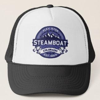 Steamboat Logo Midnight Trucker Hat