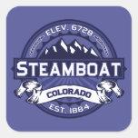 Steamboat Midnight Square Sticker
