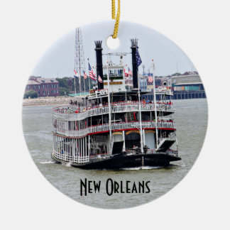 Steamboat on the Mississippi River Christmas Ornament