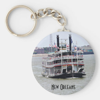 Steamboat on the Mississippi River Key Ring