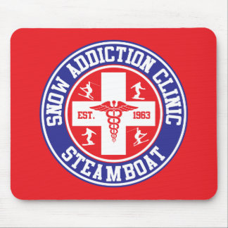 Steamboat Snow Addiction Clinic Mouse Pad