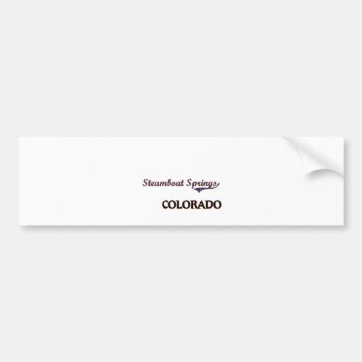 Steamboat Springs Colorado City Classic Bumper Sticker