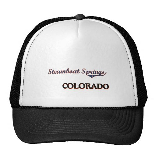 Steamboat Springs Colorado City Classic Mesh Hats