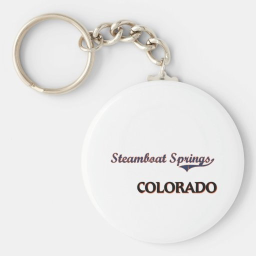 Steamboat Springs Colorado City Classic Keychains