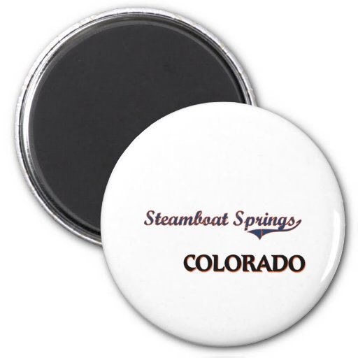Steamboat Springs Colorado City Classic Fridge Magnets