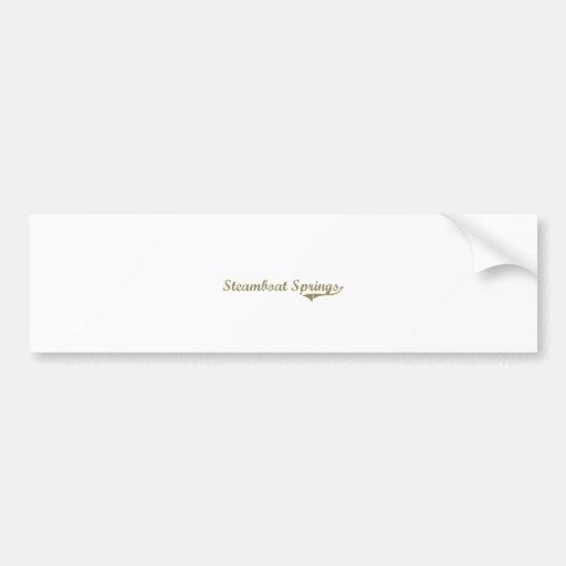 Steamboat Springs Colorado Classic Design Bumper Stickers