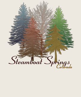 Steamboat Springs Colorado colorful trees tee