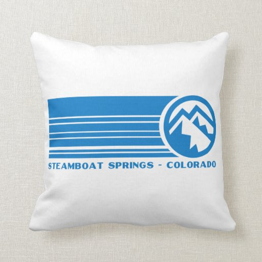 Steamboat Springs Colorado Throw Pillow