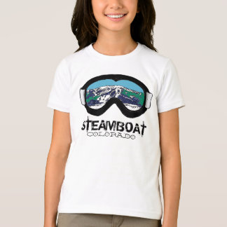 Steamboat Springs Colorado goggles girls tee