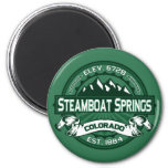 "Steamboat Springs ""Colorado Green"" Logo Fridge Magnets"
