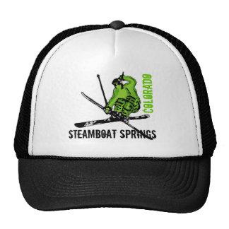Steamboat Springs Colorado green ski theme hat