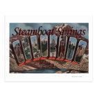 Steamboat Springs, Colorado - Large Letter Scene Postcard