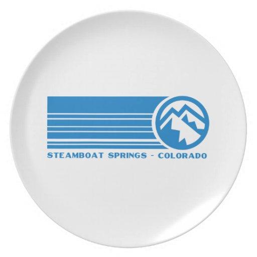 Steamboat Springs Colorado Dinner Plate