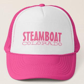 Steamboat Springs Colorado simple pink hat
