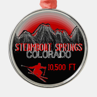 Steamboat Springs Colorado ski red ornament