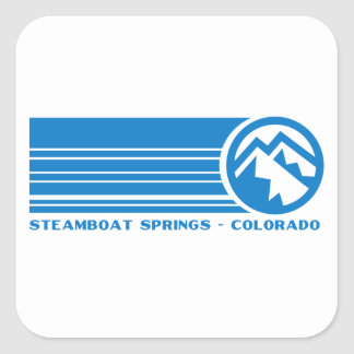 Steamboat Springs Colorado Square Sticker