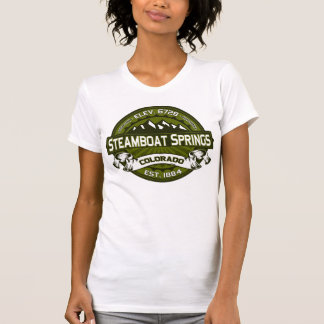 Steamboat Springs Olive Logo Shirts