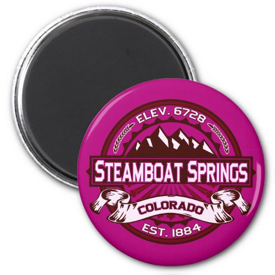 Steamboat Springs Raspberry 6 Cm Round Magnet