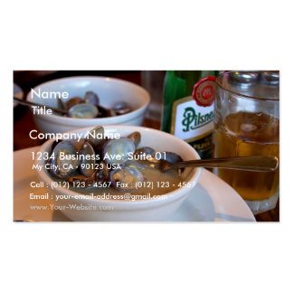 Steamed Baby Clams Business Cards