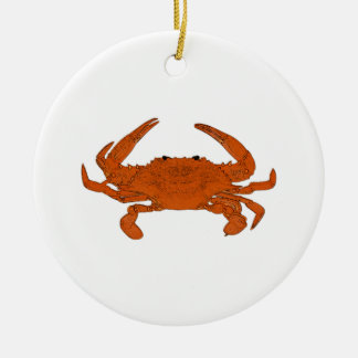 Steamed Crab Logo (Atlantic blue crab) Christmas Ornament
