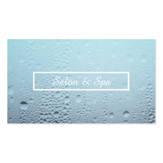 steamed glass spa appointment reminder pack of standard business cards