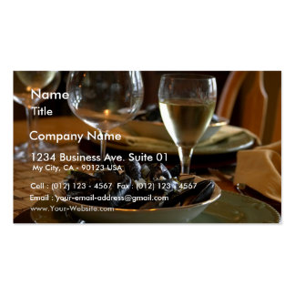 Steamed Muscles At The Dinner Table Business Card Templates