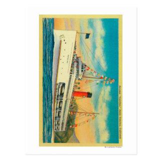"""Steamer """"Catalina"""" at Santa Catalina Island Postcard"""
