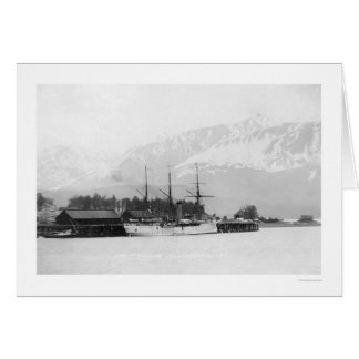 Steamer Docked in Seward, Alaska 1916 Card