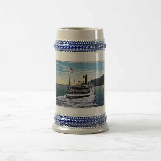"Steamer ""Horicon"", Lake George, New York Beer Stein"