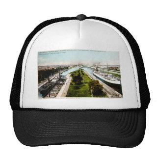 Steamer in the Locks, Sault Ste.Marie, Michigan Hat