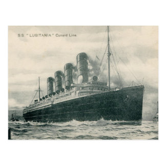 Steamer SS Lusitania Post Cards