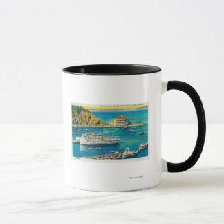 Steamers Catalina and Avalon at Pier, and Casino Mug