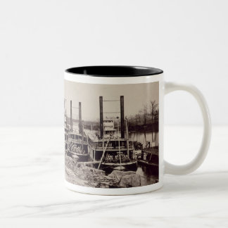 Steamers on the Mississippi (b/w photo) Two-Tone Coffee Mug