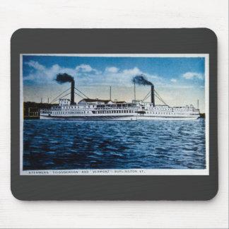 Steamers Ticonderoga and Vermont, Burlington, VT Mouse Pads