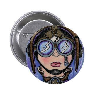 Steamface #1 Steampunk 6 Cm Round Badge