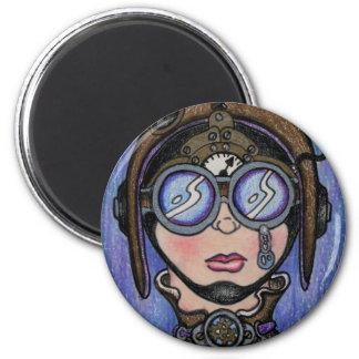 Steamface #1 Steampunk Magnet