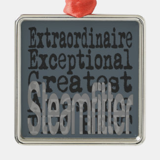 Steamfitter Extraordinaire Silver-Colored Square Decoration