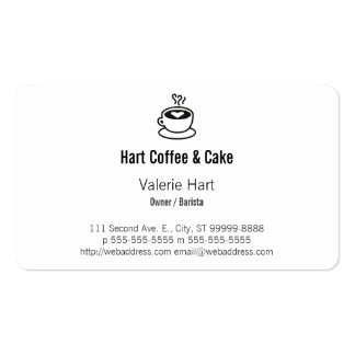 Steaming Coffee Cup with Heart Design Pack Of Standard Business Cards