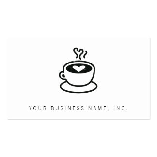 Steaming Coffee Cup with Heart Design (worn style) Pack Of Standard Business Cards