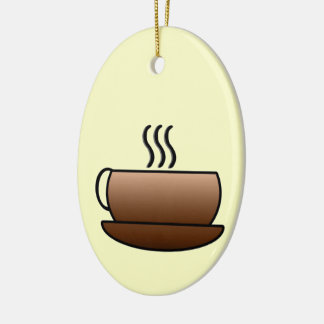 Steaming Coffee Mug Christmas Ornament