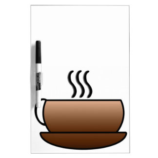 Steaming Coffee Mug Dry Erase Board
